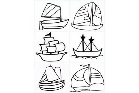 几种帆船的简笔画画法