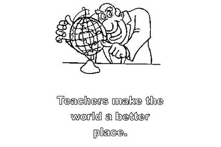地理老师简笔画图片