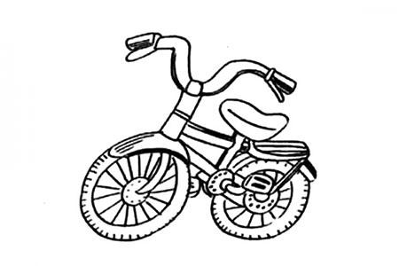 儿童自行车简笔画