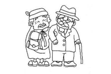爷爷和姥姥简笔画
