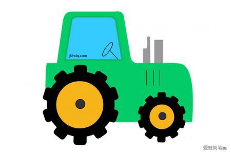 简单好画的农用拖拉机