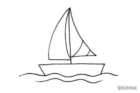 简单易学的帆船简笔画