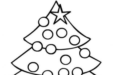 漂亮的圣诞树简笔画图片