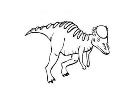 恐龙图片大全 肿头龙简笔画