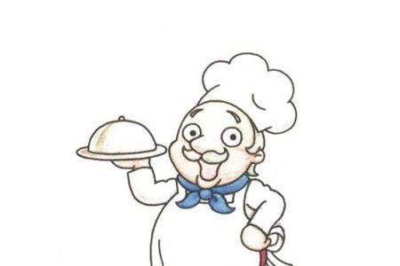 开心的厨师简笔画