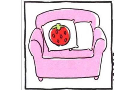 可爱的单人沙发