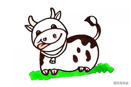 画奶牛简笔画的详细步骤