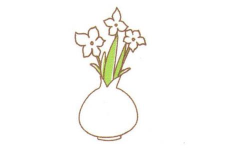 花瓶里的水仙花