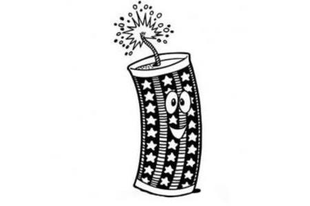 春节用品简笔画图片 卡通鞭炮简笔画