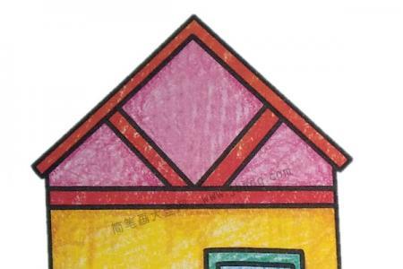 幼儿学画房子简笔画