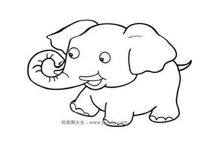 调皮的小象简笔画图片