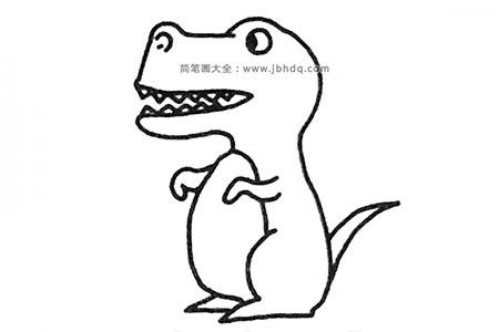 简单恐龙简笔画图片