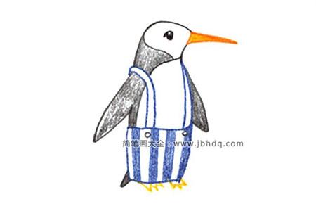 行走中的企鹅怎么画