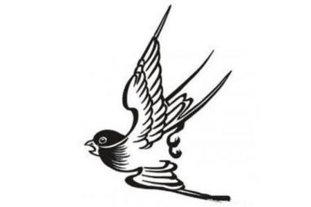 飞行中的燕子简笔画