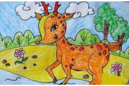 美丽的梅花鹿
