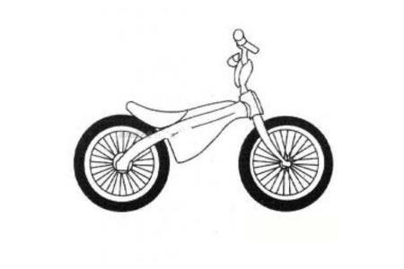 表演自行车简笔画