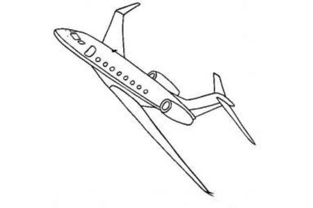 飞机简笔画大全 湾流G650公务机