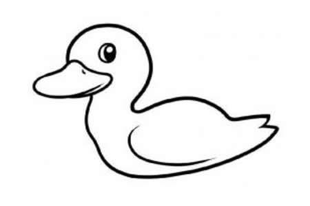 幼儿园小鸭子的画法