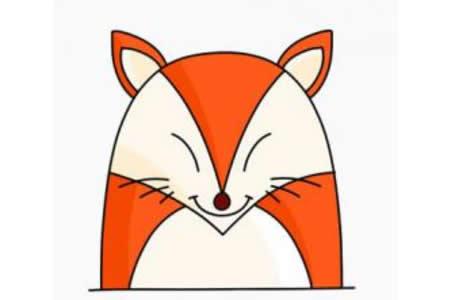 简笔画狐狸的画法