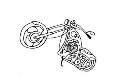 摩托车简笔画 经典摩托车简笔画图片
