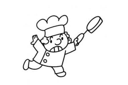 职业人物简笔画 厨师简笔画