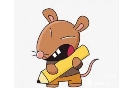 卡通小老鼠简笔画图片