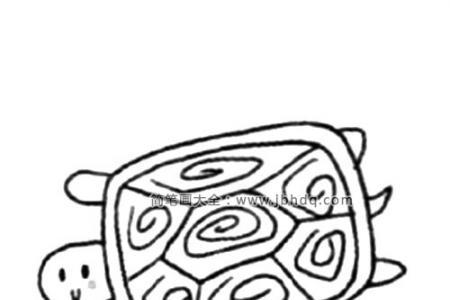 慢吞吞的乌龟简笔画教程