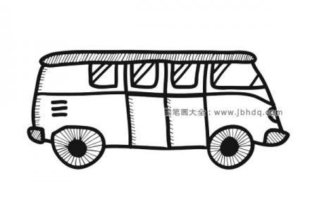 小公共汽车简笔画