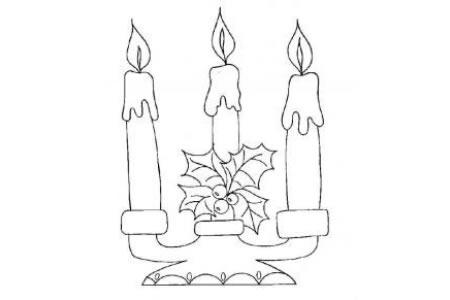 蜡烛简笔画图片