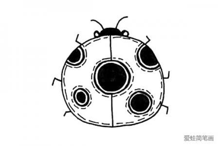 简单的瓢虫简笔画