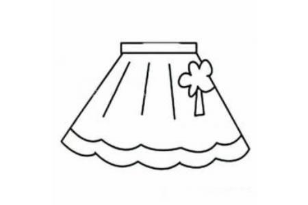 短裙简笔画