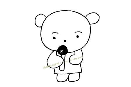 小熊吃棒棒糖