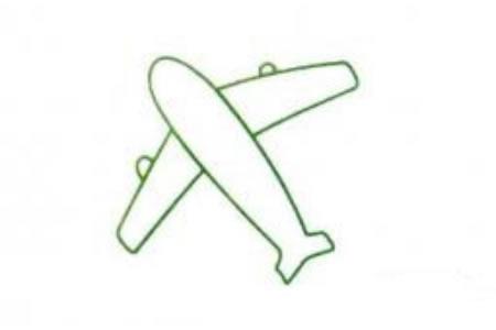 一组简单的飞机简笔画图片