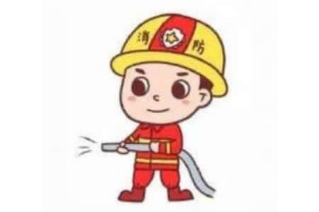 消防员简笔画教程