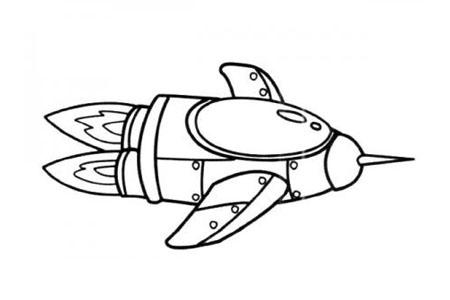漂亮的火箭简笔画