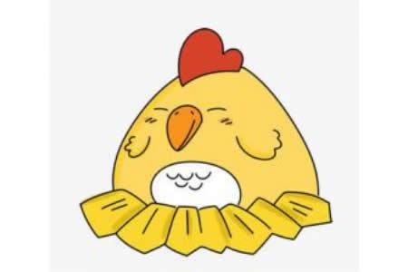 小母鸡简笔画图片