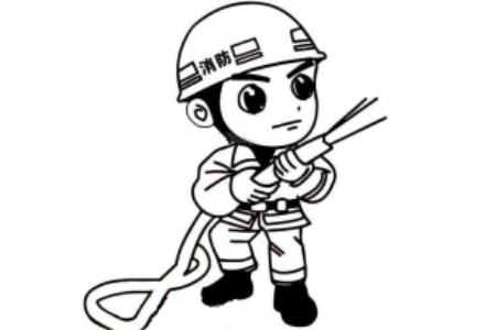 消防员简笔画图片