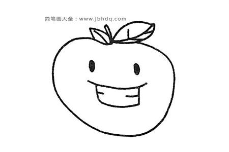 可爱的苹果简笔画教程