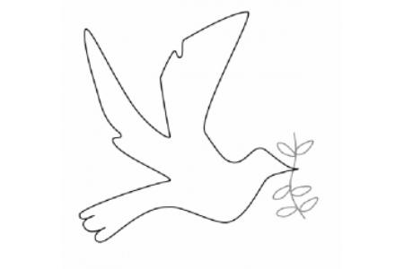 最简单的和平鸽画法