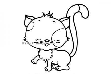 简笔画图片漂亮的小猫