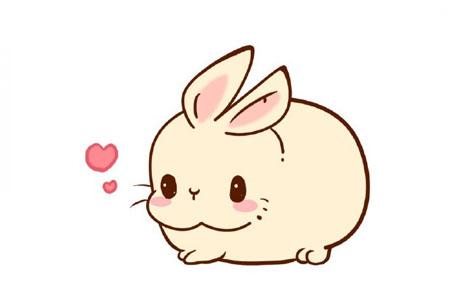 萌萌的小胖兔简笔画