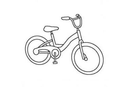 儿童玩具图片 儿童自行车简笔画图片