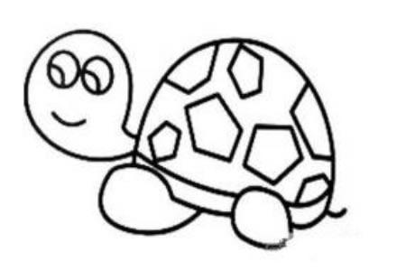 小乌龟可爱的简笔画