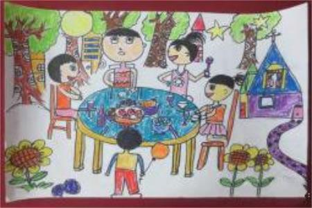 中秋大联想,欢庆中秋节儿童画