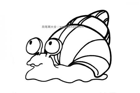 蜗牛背着重重的壳