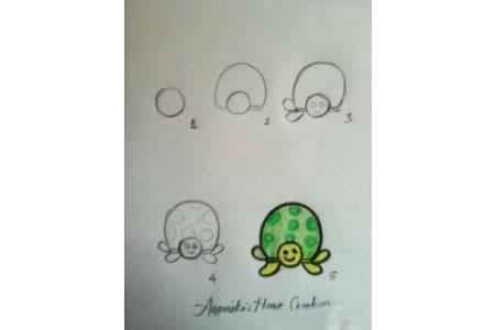 乌龟的简笔画步骤图