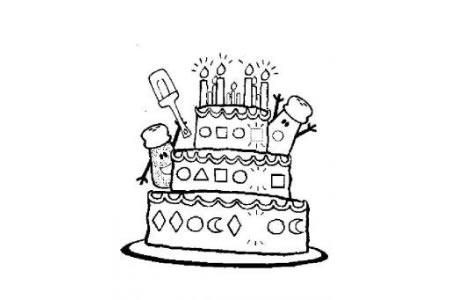 生日蛋糕简笔画 简笔画大全