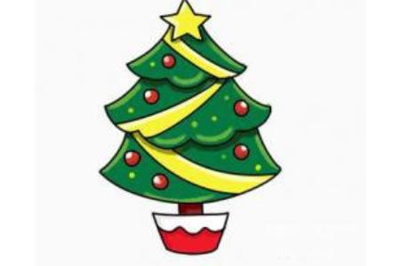 圣诞节简笔画大全圣诞树