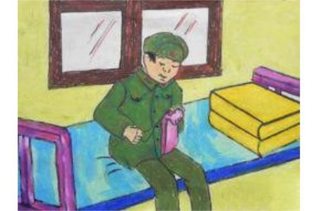 雷锋故事儿童画图片-细心的雷锋