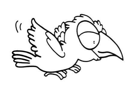 简笔画图片乌鸦